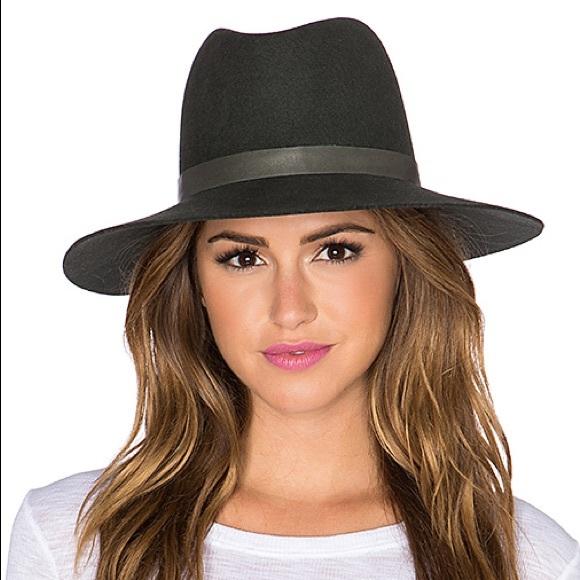 9571e3329fedc Janessa Leone Tate wool felt hat olive green small